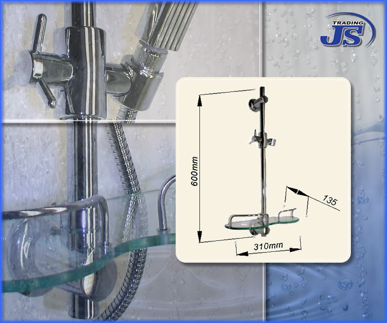 Duschzubeh?r Schweiz : Duschstange mit praktischer Design-Ablage eBay