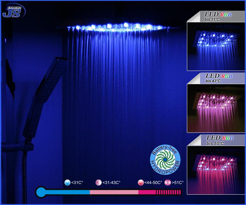 Rainshower Dusche Nachr?sten : Regendusche Mit Led Beleuchtung Pictures to pin on Pinterest