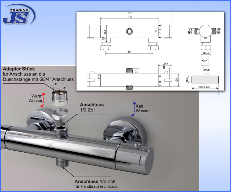 Duscharmatur H?he : duscharmatur umschalter beschreibung diese thermostat duscharmatur