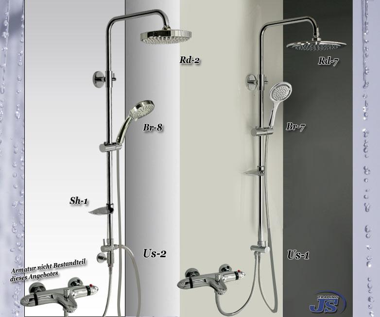 ds us duscharmatur regendusche duschkopf duschstange - Regendusche Grohe