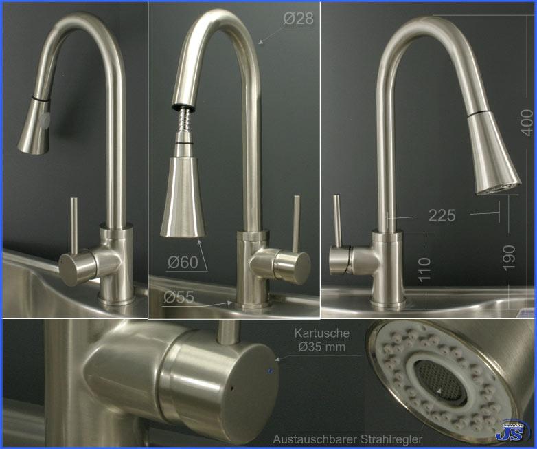 Küchenarmatur Niederdruck Mit Brause Sp14 – Hitoiro